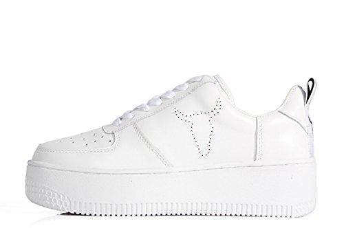 Windsor Smith Racerr High Platform Sneaker White Leather - Scarpe doppia suola bianche in pelle
