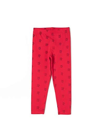 ZIPPY ZG0403_455_4, Leggings Niñas, Rojo Lollipop
