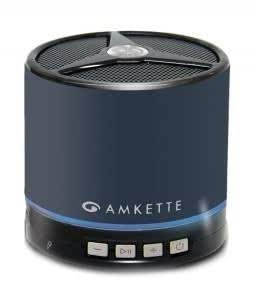Amkette Trubeats Metal Portable Bluetooth Speaker (Xtra Bass) with 3.5mm Audio Jack and Mesh Bag