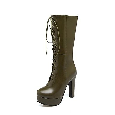 Women's Boots Riding Boots Combat Boots Spring Winter Leatherette Casual Office &...