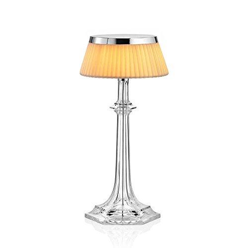Flos Bon Jour Versailles Small Lampe de table avec structure chrome et abat-jour tissu 220 Volt