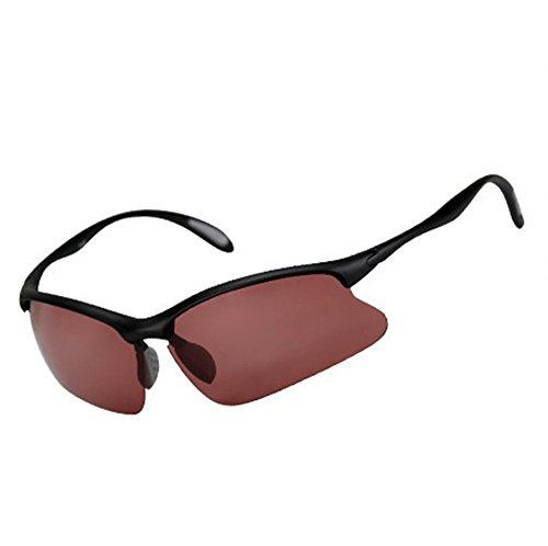 ZYPMM Polarisierte High Definition Fair Fischen Fisch Eyewear Outdoor Spezielle Schwelle Spiegel Licht Angeln Sonnenbrille Outdoor UV Schutz Männer & Frauen Universal (Color : Wine red)