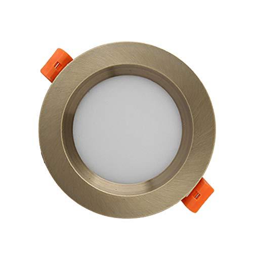 Pinjeer Voltaje AC85-265v Redondos Vintage Empotrados Downlights Aluminio antiniebla Foco Empotrado Estudio...