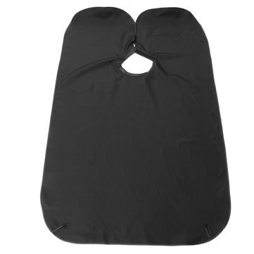 Generic Shave Cape Hair Beard Trimming Catcher-Black
