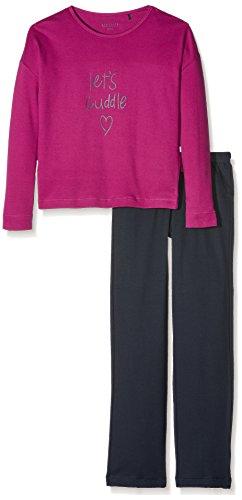 Schiesser Zweiteiliger Schlafanzug Family Mädchen-Anzug lang, Rot (Beere 512), 152