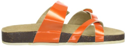 Ilse Jacobsen Damen Lack Sandalen flach CHEERFUL71 Orange (Orange (34) 34)