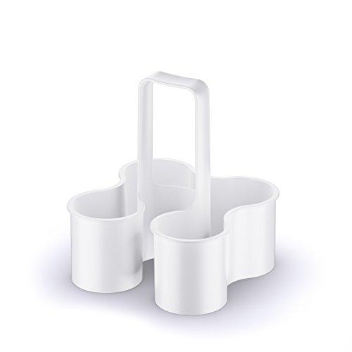 koziol Flaschenträger Caddy, Kunststoff, weiß, 24 x 24 x 26.1 cm