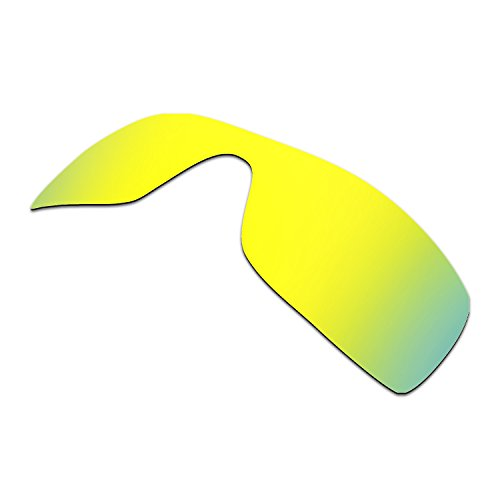 HKUCO Plus Mens Replacement Lenses For Oakley Batwolf Sunglasses 24K Gold Polarized