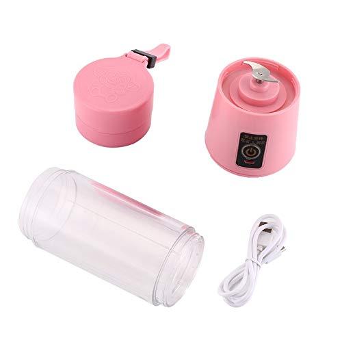 Peepheaven Tasse de jus de mélangeur de Fabricant de Smoothie de Main de Presse-Fruits électrique de Presse-Fruits électrique de 380ml - Rose