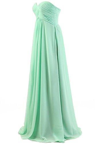 Eudolah Maxi robe de soiree/cocktail bustier avec bandeau plisse demoiselle d'honneur Femme Menthe