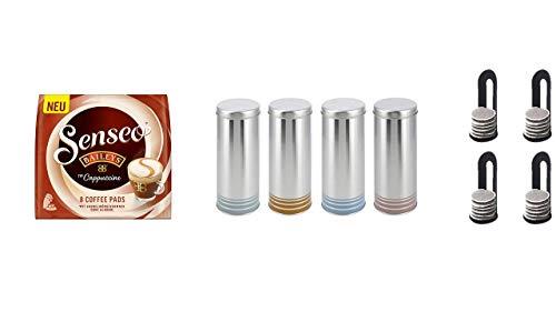 "Senseo Paddose \""Premium\"" mit Padlifter + Senseo Pads Typ Cappuccino Baileys, 1er Pack (10 x 92 g)"