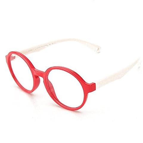 HJXJXJX Kinderbrillen Männer Rahmen Glasrahmen Silikon-Material Spiegel Tochter Tong Pingguang , E