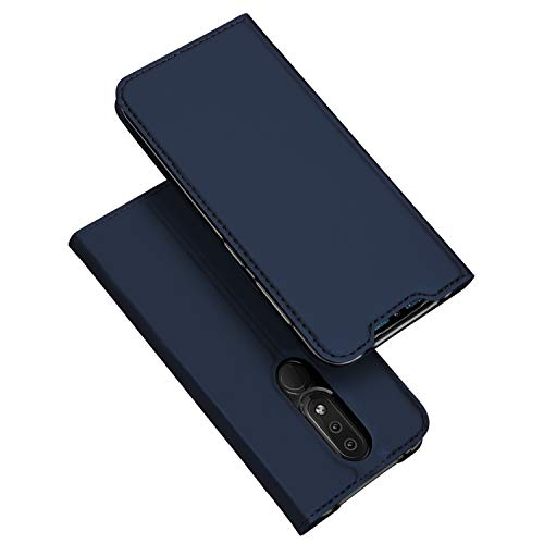 DUX DUCIS Hülle für Nokia 4.2, Leder Flip Handyhülle Schutzhülle Tasche Case mit [Kartenfach] [Standfunktion] [Magnetverschluss] für Nokia 4.2 (Blau)