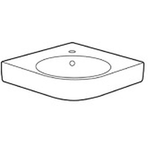 Keramag Renova Nr. 1 Comprimo NEU Eckwaschtisch, Schenkellänge 50 cm weiß KeraTect