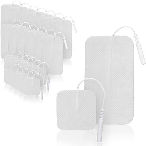 Selldorado® 24 Stück Selbstklebende Gel-Elektroden Pads für TENS, EMS, Reizstromgeräte in verschiednen Formen und Größen, wiederverwendbar (24 Stück - Mix)