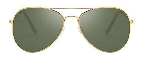 WSKPE Sonnenbrille Herren Sonnenbrille Die Sonnenbrille Frauen Brillen Uv400 Gold Dunkel Grüne Linse Gerahmt