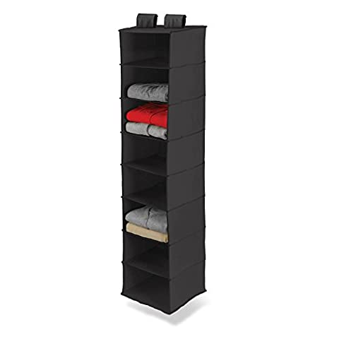 Honey-Can-Do SFT-01246 Hanging Closet Organizer, Black, 8-Shelf