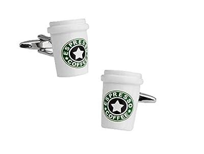 Fengteng ESPRESSO COFFEE Coffee Cup Cufflinks from Fengteng