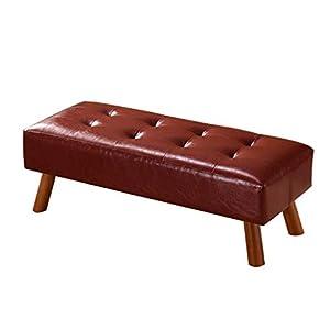 Ibuprofen Mittelbrauner Ottomane Sitz Leder Kissen Fußhocker Bettende Hocker/Fußstütze Wohnzimmer Sofa Bank für Flur Foyer 100 * 40 * 35Cm