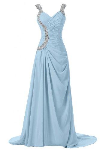 Sunvary Sweetheart Chiffon-Vestito lungo da sera a Celebrity Dress Light Sky Blue