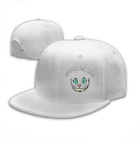 Unisex Adult Baseball Mesh Cap Smile Cheshire cat Tale Alice Wonderland Purple Back White ()