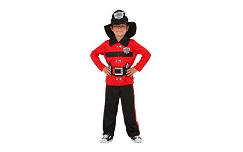 Costume carnevale vigile del fuoco / pompiere bambino 4/7 anni - tg s