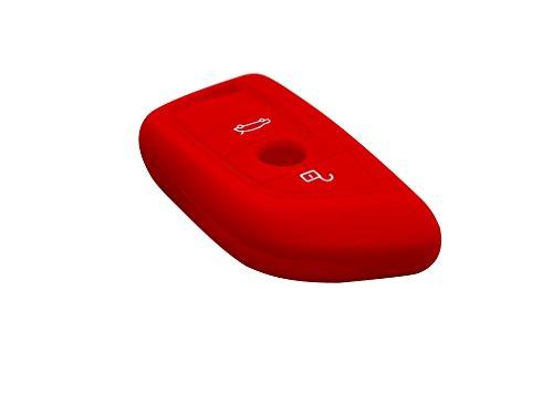 Silikon Schlüssel Hülle für Smart For für BMW 1 2 5 series 218i X1 F48 X5 X6 F15 X3 X4 rot