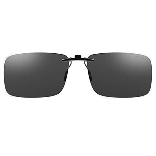 Rahmenlose polarisierte Sonnenbrille für Männer und Frauen, die Sonnenbrillen Fahren, polarisiert 100% UV-Schutz, kann mit UV400-Schutz im Stil der Myopie-Sonnenbrille ausgestattet Werden-black1