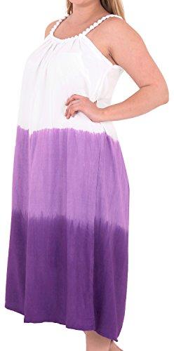 La Leela delle donne vestito Cover Designer prendisole beachwear costume da bagno bikini up Viola