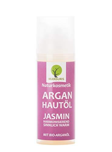 Bio Arganöl Jasmin   Körperöl kaltgepresst für Gesicht, Körper, Hände & Nägel - 100% Naturkosmetik Hautöl & Gesichtsöl spendet Feuchtigkeit gegen unreine & trockene Haut, Anti Aging Pflege 50 ml (One All Anti-aging-behandlung In)