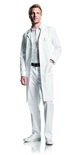 01 Herren Mantel weiß, Reverskragen, Normallänge, Mischgewebe, Größe 54 (Medizinischen Labor-mäntel Für Männer)