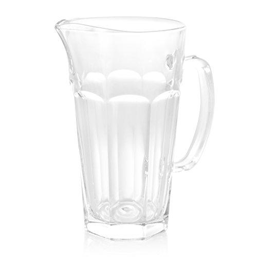 wenco Glaskanne/Wasserkrug/Pitcher, Füllvolumen: 1 l, Glas, Transparent, Max, 531139