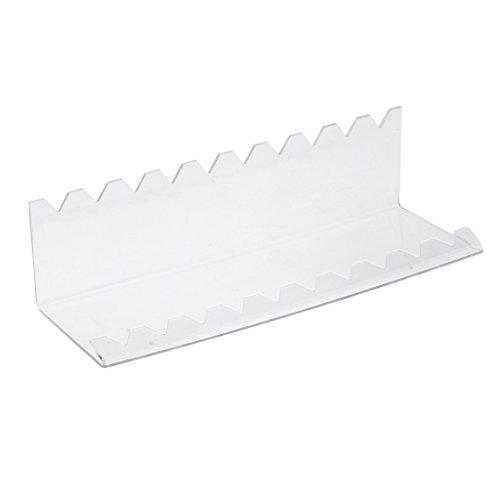Baoblaze Support Acrylique Transparent Stand pour Affichage et Stockage de 10 Crayons/Pinceaux