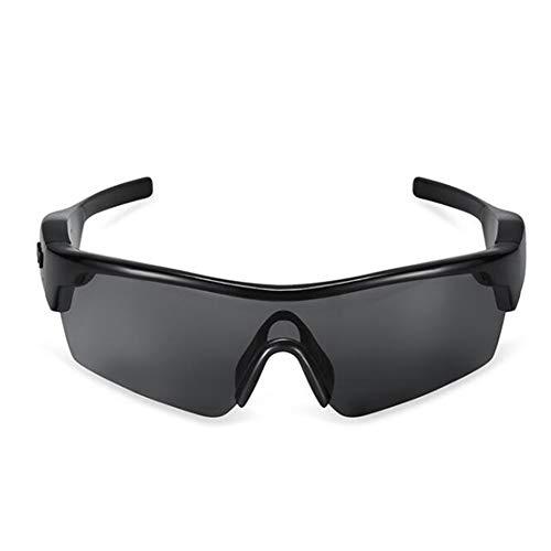 KCaNaMgAl Intelligente Bluetooth-Brille, Bluetooth 4.1 gratis mit Kopfhörer, Sonnenbrille und polarisierender Sonnenbrille,Black