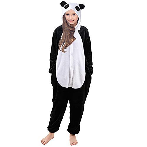 Mädchen Panda Halloween Kostüm - MHJY Kinder Einhorn Pyjamas Flanell Jumpsuit