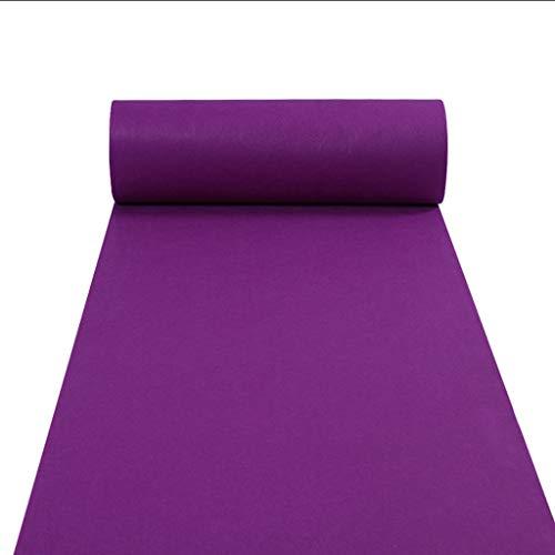 (LIYUZHEN Hochzeitsteppich,Einweg Multicolor Floor Runner Hochzeit Gang Dekoration Für Feier Eröffnungsfeier Party Events Liefert Dicke 2 mm (Farbe : Purple, größe : 1.5m×20m))