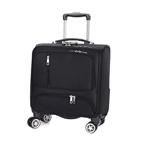 XDD 18 Zoll Rolling Laptop-Tasche für Frauen und Männer Business Luggage Travel Rolling Tote Koffer Rolling Computer Case Spinner für Business Travel Academy,A -