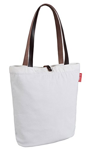 So'each Women's I Live To Sail Letters Top Handle Canvas Tote Shoulder Bag White