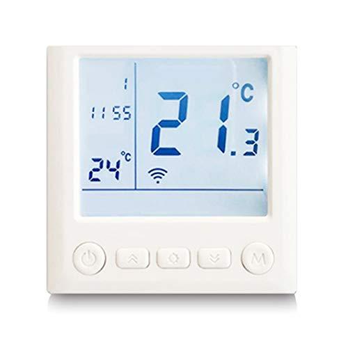 WLPT WiFi-Thermostat für Smartphones, Fernbedienung Graphen Kohlenstoff Kristall Elektrisch Heizung Fußbodenheizung Thermostat