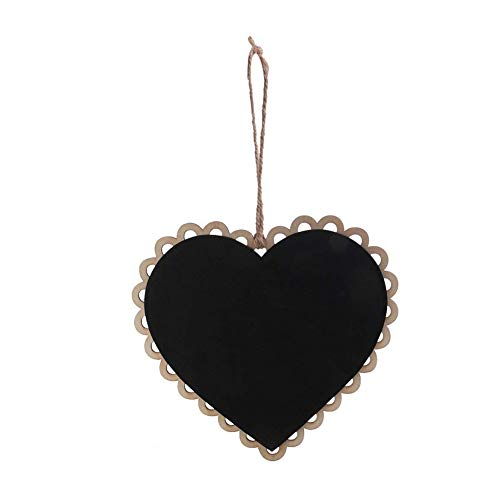 Wooden Heart Shaped Tafel Mini-Herz hängende hölzerne Tafel-Memo-Board mit Seil Home Decor Shaped Memo-board