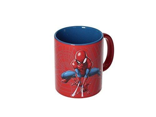 SD Toys Mug Motif Spider-Man Marvel, Céramique, Rojo-Azul, 7 x 13 x 9 cm