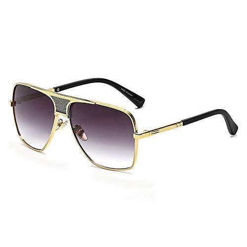 Eye-nak Oversized Herren Sonnenbrille in vielen Farben (C5 Rahmen Gold)