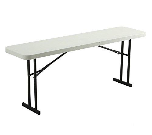 Lifetime Kunststoff Klapptisch, Falttisch, Konferenztisch & Campingtisch 10er Set // 183x46x74 cm // Flohmarkttisch, Esstisch & Stehtisch