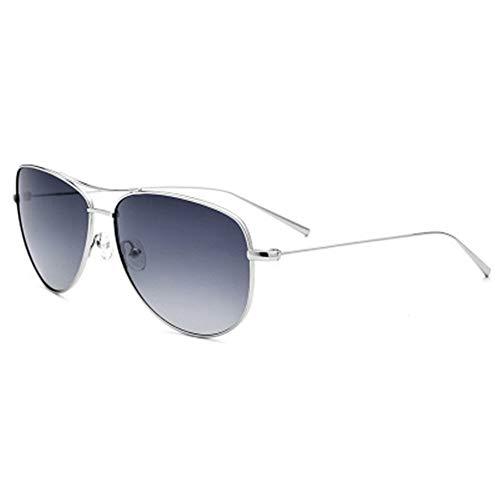 Zhicaikeji Gafas de Sol para Hombre, Gafas de Sol B Titanium, ultraligeras, Gafas de Sol polarizadas, Espejo retrovisor, Gafas de Sol clásicas de Rana