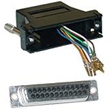 Modular Adapter, Black, DB25 Female to RJ45