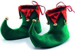 Xmas Shoes. Adult Accessory Fancy (Fancy Dress Ideen)