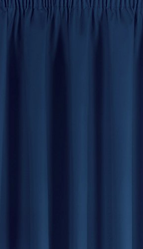Simply Style Madison Blue Thermal Backed Readymade Curtain Pair 46x72in(116x182cm)