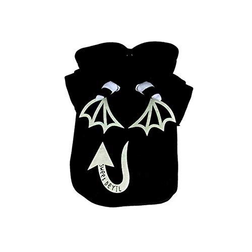 Dog Kostüm Devil Xl - Smniao Hundepullover Hundekleidung für Kleine Hunde Bulldogge Halloween Devil Cosplay Hundemantel Kostüm Haustier Katze Bekleidung (XL, Schwarz)
