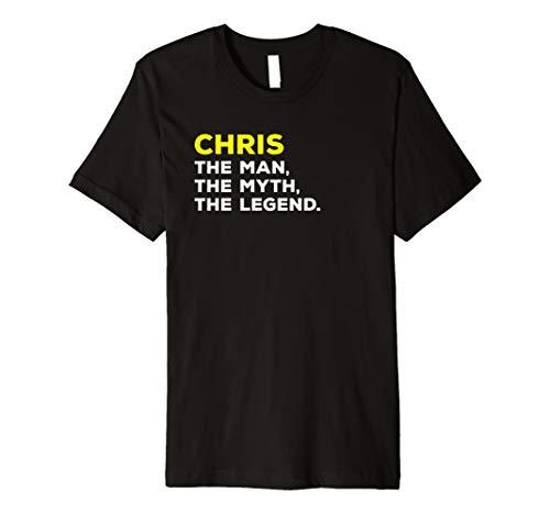 Chris der Mann, der Mythos, die Legende Geschenk T-Shirt Herren Jungen