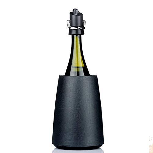 IC&EO Wein Kühler Eimer,isolierter Sektkühler Kühler Sektkühler Weißwein Flasche Kühler Halten Sie Den Wein Kalt-schwarz 15x21cm(6x8inch) -